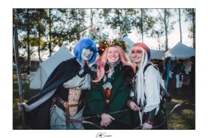 Three fantasy cosplayers at Winterfest